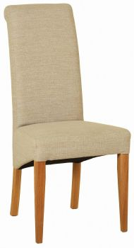Walter Dining Chair in Beige Fabric