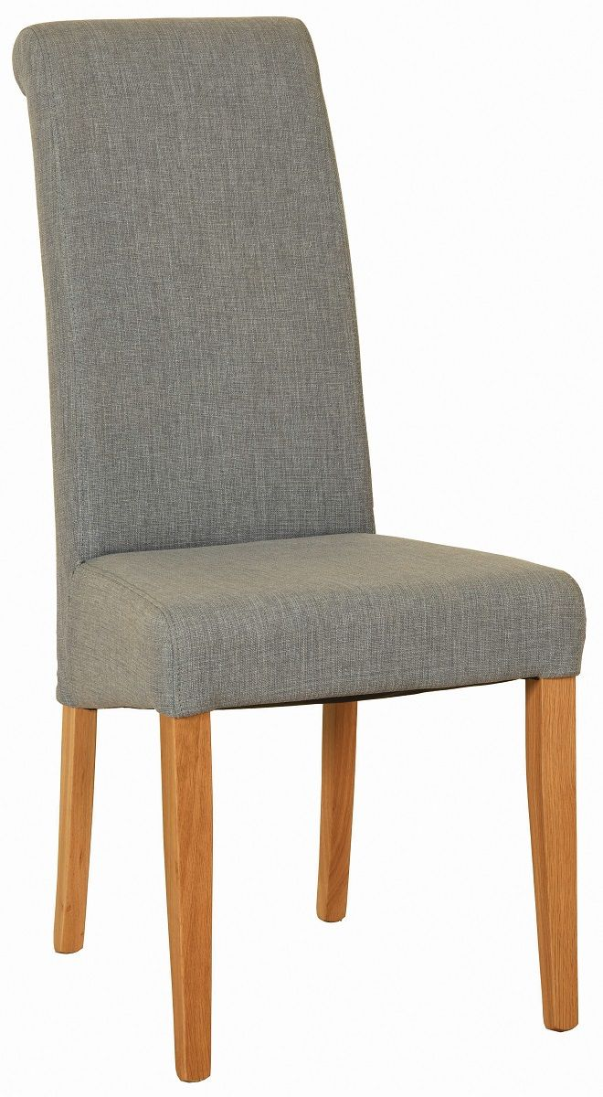 Walter Dining Chair in Light Grey  Fabric