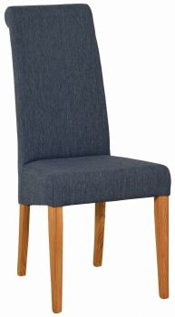 Walter Dining Chair in Blue Fabric