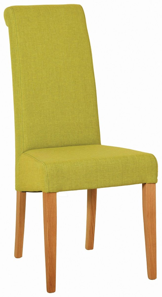 Walter Dining Chair in Lime Fabric