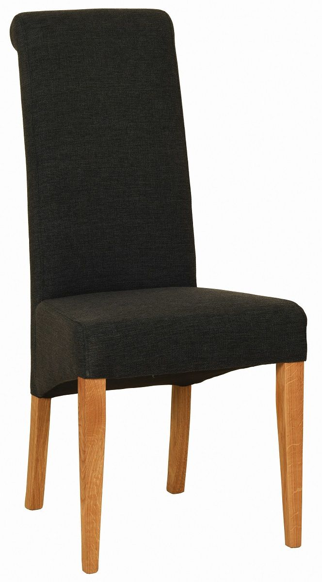 Walter Dining Chair in Charcoal Fabric