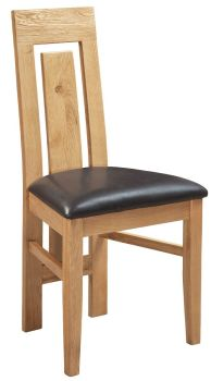 New Amber Oak Dining Chair Ryan