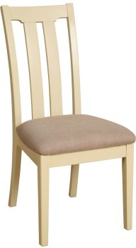 Amelia Dining Chair Slat Back  Ivory & Oak