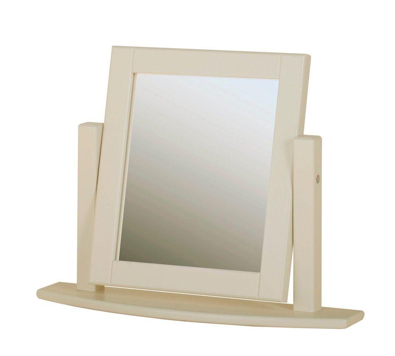 Amelia Dressing Table Mirror Swing Truffle Ivory & Oak