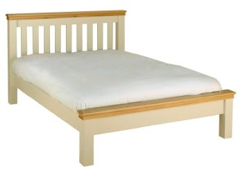 Amelia Bed Double Ivory Oak