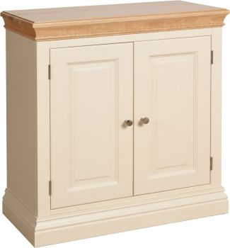 Amelia Cupboard 2 Door Ivory & Oak