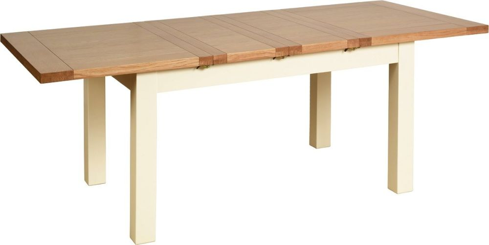 Amelia Dining Table Extending  Ivory & Oak