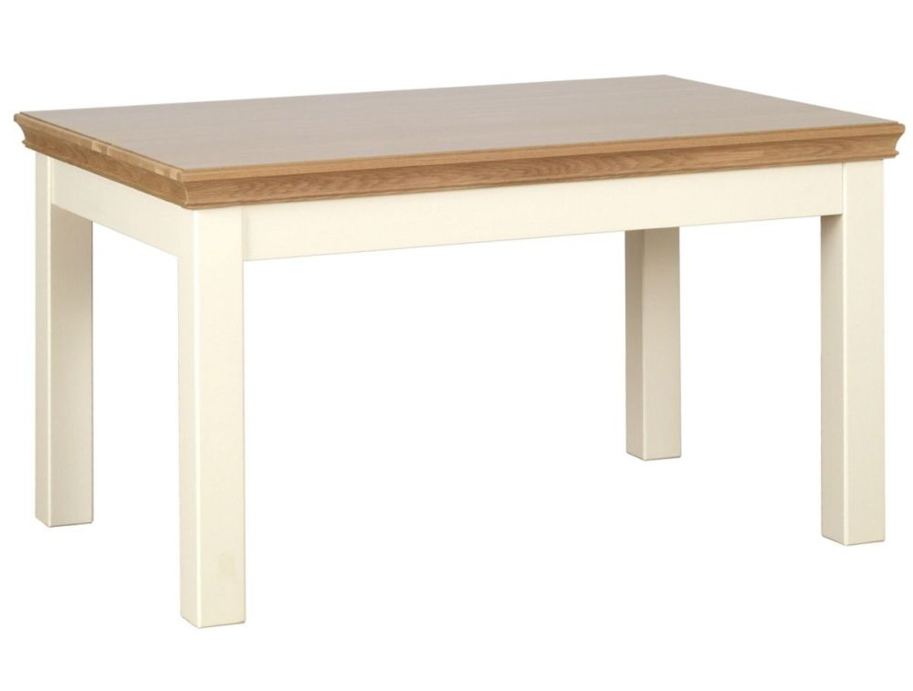 Amelia Dining Table in Oak & Ivory