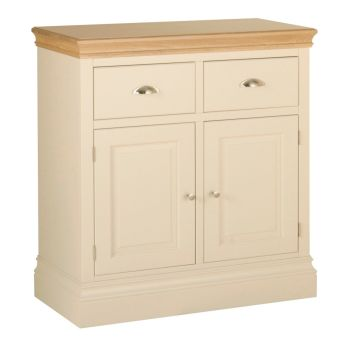 Amelia Sideboard 2 Door 2 Drawer Ivory & Oak