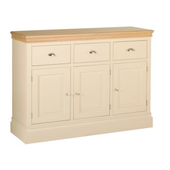 Amelia Sideboard 3 Door 3 Drawer Ivory & Oak