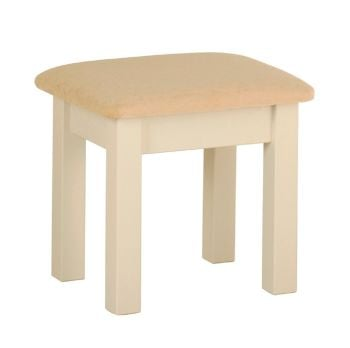 Amelia Dressing Table Stool Ivory & Oak