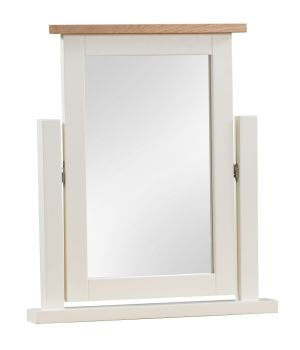 New Amber Oak & Painted Dressing Table Mirror