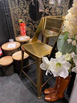 Blake Bar Stool in Brass