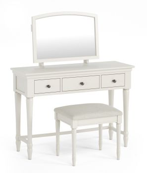Aspen Dressing Table & Mirror (Stool not included)