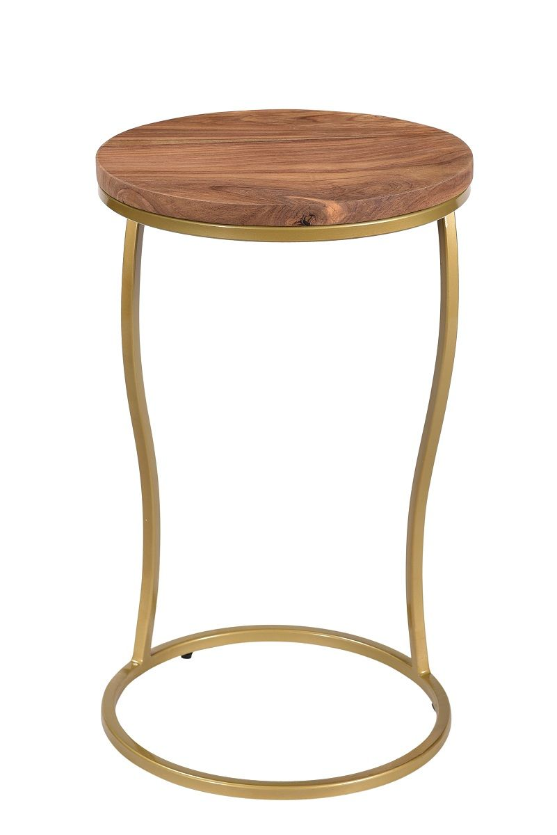 Enfield Sofa Table Round Gold Base