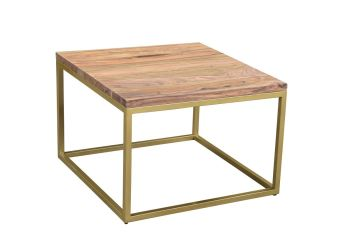 Enfield Coffee Lamp Table Gold  Frame