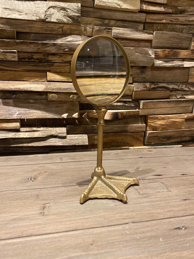 Bronze Bird Leg Magnifying Glass