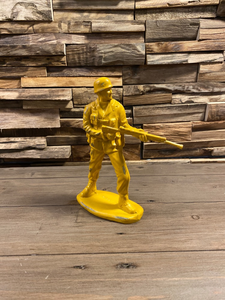 Vintage Toy Soldier Figure Yellow