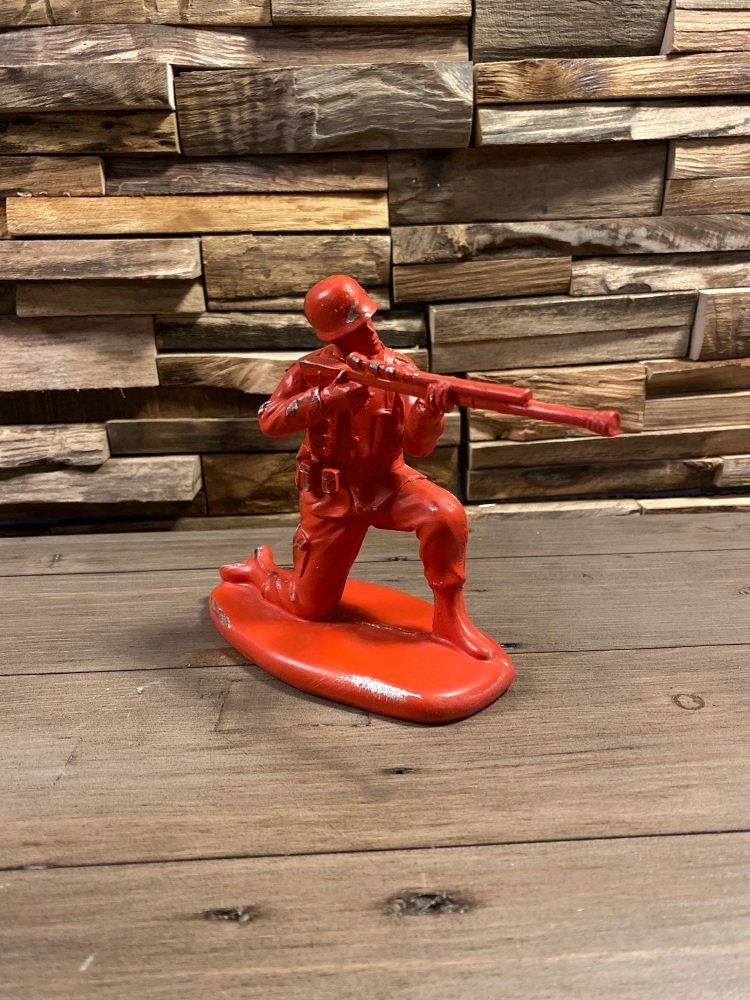 Vintage Toy Soldier Figure Red