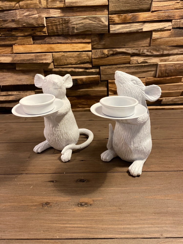 Pair of Mice Candle Holders