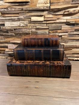 Set of Three Antique Storage Books