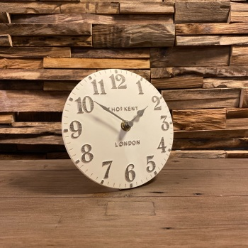 "6"" Arabic Mantel Clock Limestone"