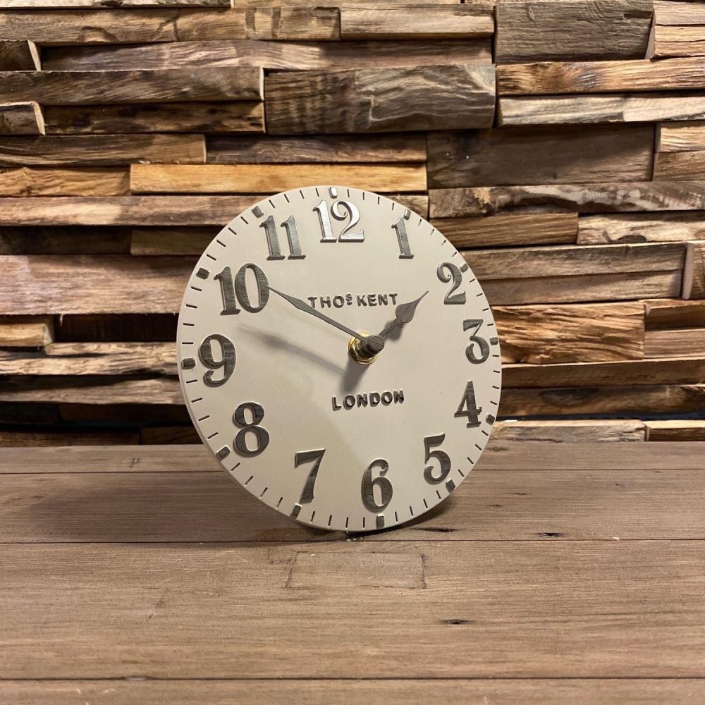 """6"""" Arabic Mantle Clock Warm Oak"""