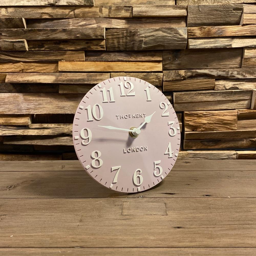 """6"""" Arabic Mantle Clock Dusty Pink"""