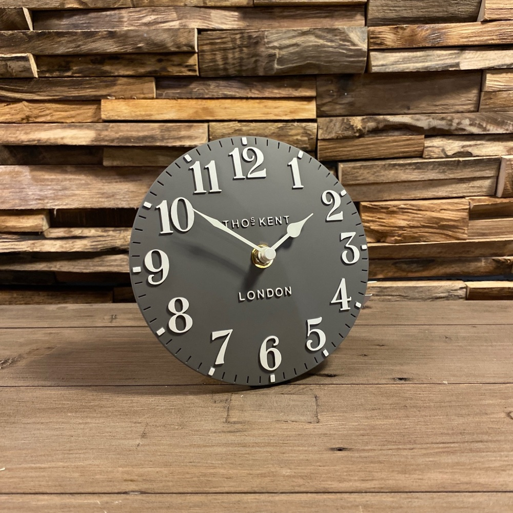 "6"" Arabic Mantle Clock Dolphin"