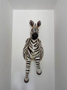 Large Wall mounted Running Zebra