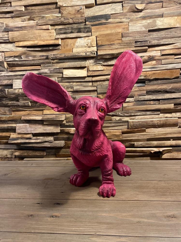Purple Surprised Basset Hound