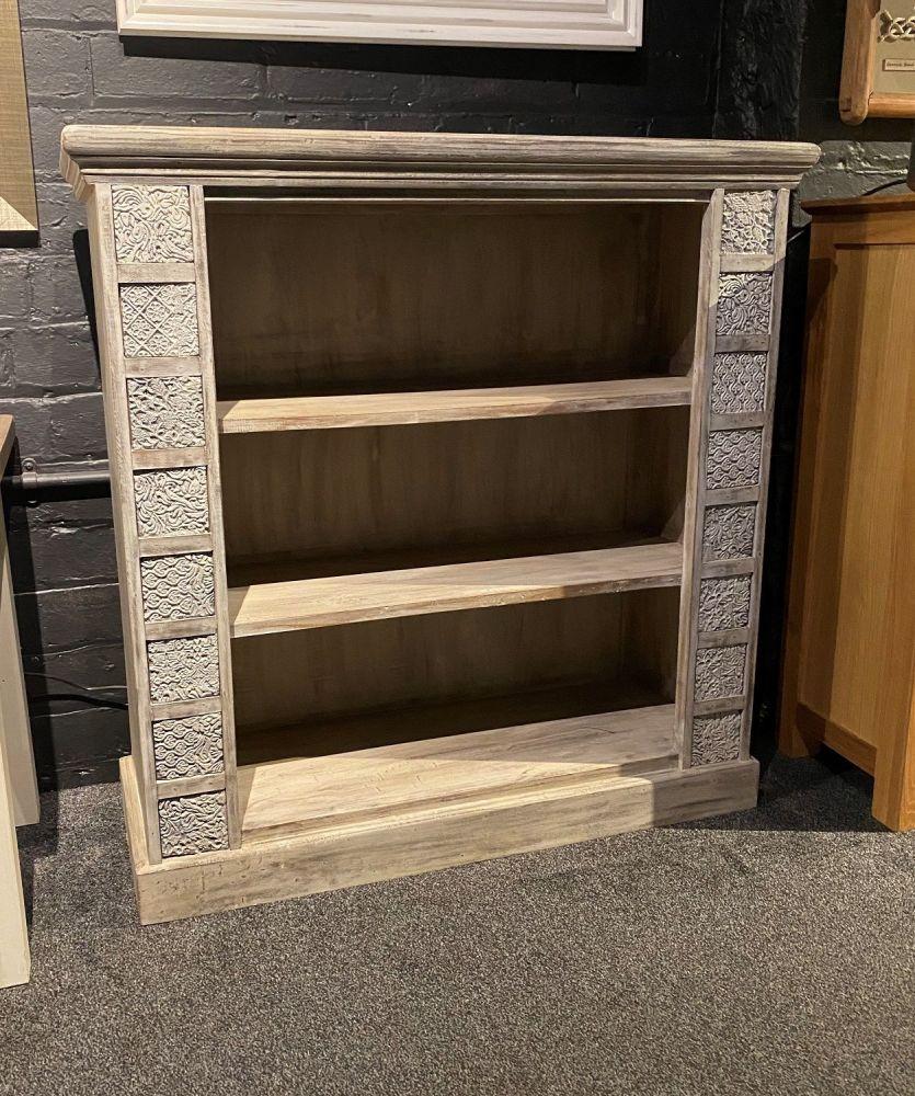 Rustic Indian Print Block Bookcase