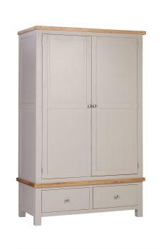 New Amber Wardrobe 2 Drawers 2 Doors Putty