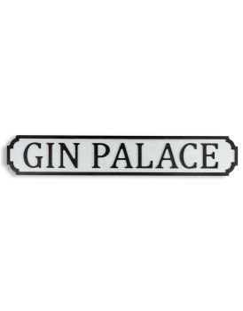 Antiqued Wooden Gin PalaceRoad Sign