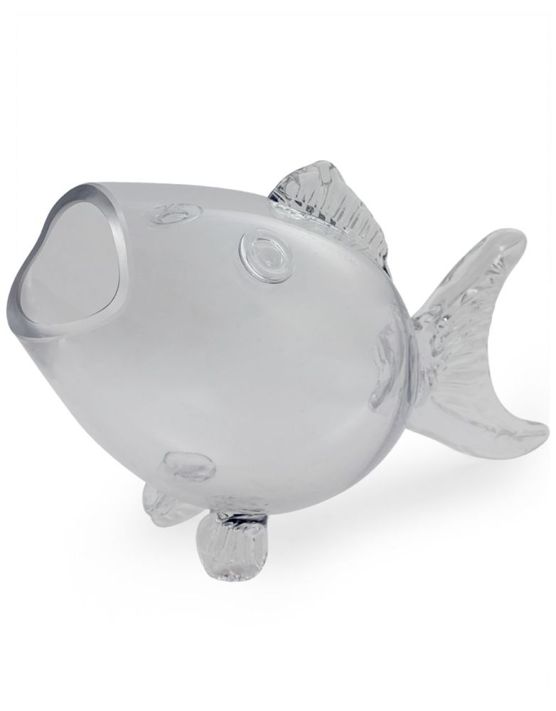 Large Glass Fish Shaped Bowl