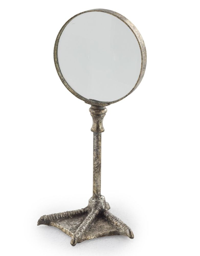 Silver Bird Leg Table Magnifying Glass