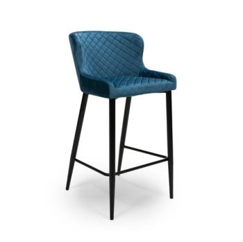 Ollie Bar Stool in Blue
