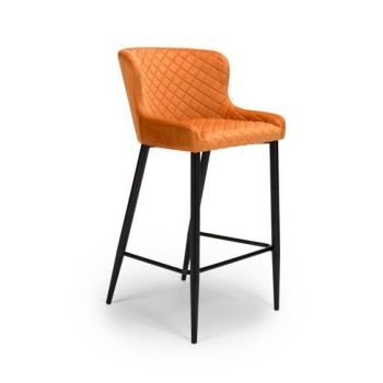 Ollie Bar Stool in Burnt Orange