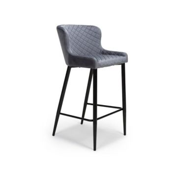 Ollie Bar Stool in Grey