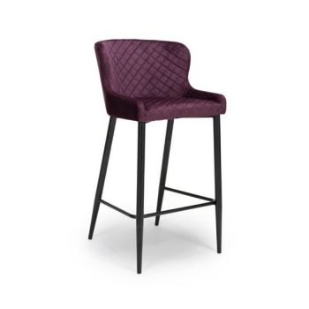 Ollie Bar Stool in Mulberry