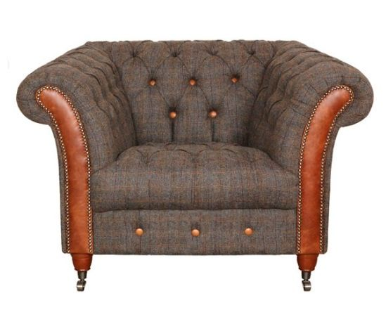 New Bute Chair Cerato Brown Aniline Leather