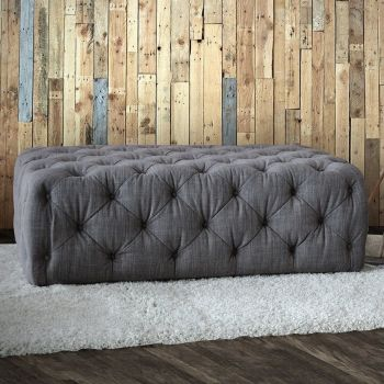 Button Footstool Large