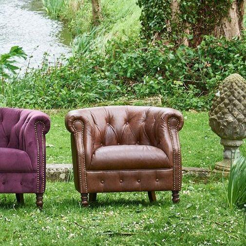 Kintyre Chair in Cal Tan Leather