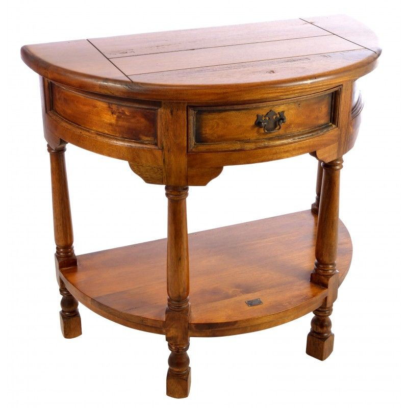 East Indies Table Console  Half Round Hall