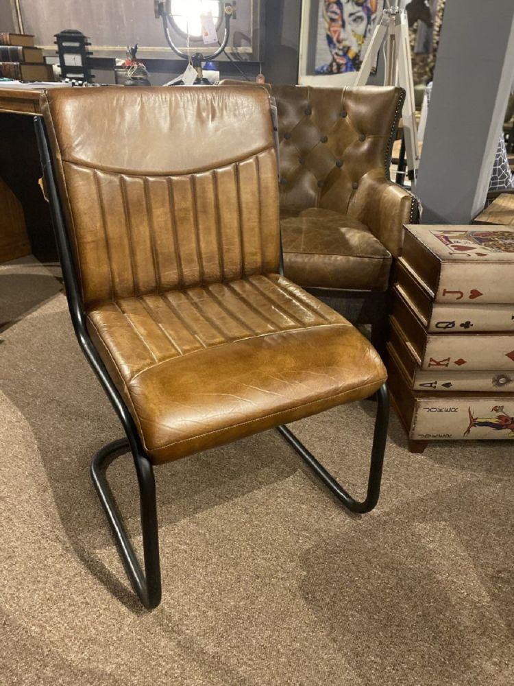 Capri Leather Dining Chair. Slight Seconds.