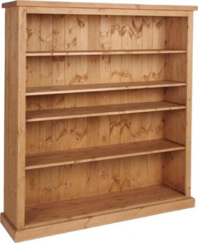 Tuscany Bookcase Wide 5ft Tall Wax Finish