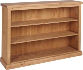 Tuscany Bookcase Wide 3ft Tall Wax Finish