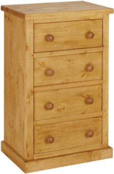 Tuscany Chest Wellington 4 Drawer Wax Finish