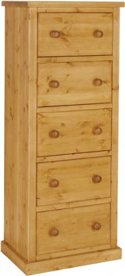 Tuscany Chest Wellington 5 Drawer Jumper Wax Finish