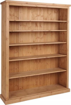 Tuscany Bookcase Wide 6ft Tall Wax Finish